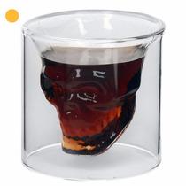 Vaso Calavera 5cm Cristal Doomed Whisky Vodka Tequila Vino