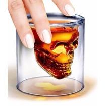 Vaso Calavera Cristal Doomed Mediano 7cm Whisky Cristal
