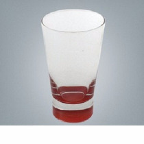 Vaso De Vidrio London Base Roja