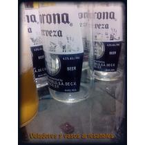 Vasos De Vidrio De Botellas Corona