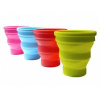 Set 4 Vasos Mates Plegables De Silicona