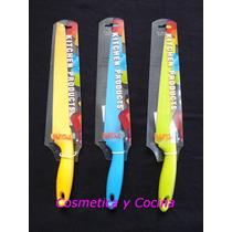 Cuchillo, Acero, Dentado, Color, Antiadherente, Siliconado.