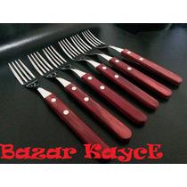 Set 6 Tenedores Tramontina Linea Polywood M/madera Cubiertos