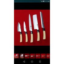 Set De Cuchillos X 5 Sashimi Sushi Chef Acero Inoxidable