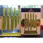 Exhibidor De Cuchillos 5 Piezas Boker Cut Verde