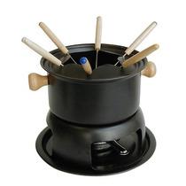 Fondue Set 6 Pinches Con Base 23cm Diam. Antiadherente Compl