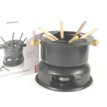 Set Juego Fondue Antiadherente Teflon Base Pinches Mechero
