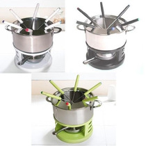 Set Juego Fondue Acero Inoxidable Completo Pinches Mechero