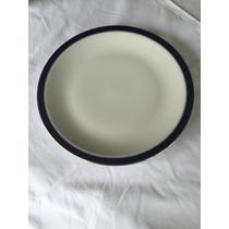 Juego Vajilla Porcelana Tsuji Con Filete Azul Y Oro. Excel!!