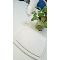 Platos Playos Cuadrados De Cerámica Gastronomica