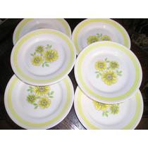 1084- Juego De 6 Platos Porcelana Oxford Brasil 18,5 Cm