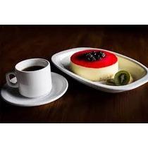 Juego Desayuno 6 Tazas Con Plato Porcelana