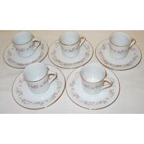 Juego De Café 5 Porcelana Blanca Tsuji Mod. 269