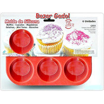 Molde Silicona Muffins Capcakes X 6 Apto Horno Y Microondas