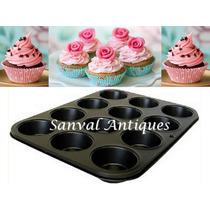 Molde X 12 Muffins Cupcakes Teflonado Calidad Premium Placa