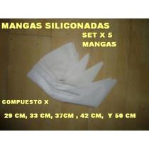 5 Mangas Siliconada P/ Picos Pasteleros Confitero Reposteria
