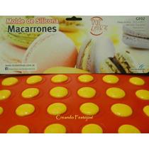 Placa Molde Silicona Para 30 Macarrons Reposteria