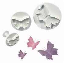 Set Cortantes Expulsores Mariposas Tortas Cupcakes, Porcelan