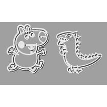 Cortantes Repostería Pack George Y Dinosaurio