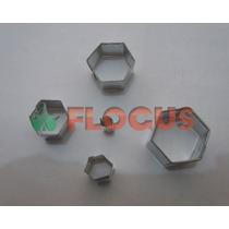 Cortante Molde Mini Hexagonos X 5 Flogus Para Hacer Pelotas