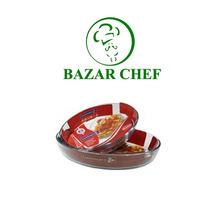 Luminarc - Molde Tarta Oval 25 Cm Vidrio Temp - Bazar Chef