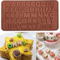 Molde De Letras Silicona Chocolate Abecedario Chocolates