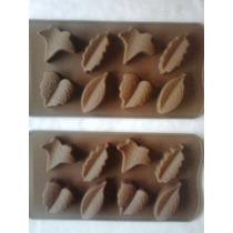 Moldes Silicona Corazones,hojas,caras Para Chocolate,jabon