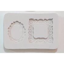 Molde Silicona Marquito, Portaretrato X 2 , Cupcake Souvenir