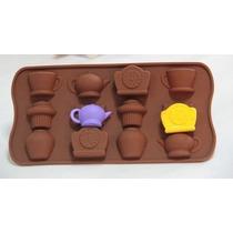 Molde De Silicona Hora De Te Chocolate Bombones Jabones Muff