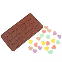 Molde Silicona Corazones Varios Tipo Medalla Chocolate