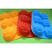 Molde De Silicona De Rosas / Flores