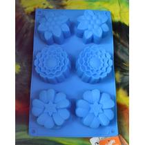 Molde De Silicona Flores Tamaño Cupcake
