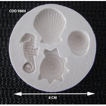 Molde Silicona Caracoles Y Caballito De Mar
