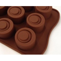 Molde Silicona Chocolate Circulos Bombones