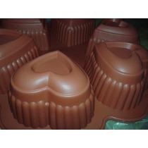 Molde De Silicona Corazón Cupcakes Galletitas X 6