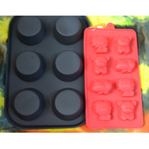 Promoción!! Molde Silicona Cupcakes + 1 De Bombones
