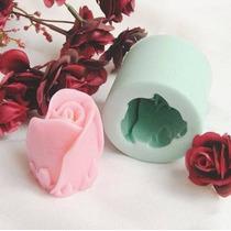 Molde Silicona Rosa Jabon Reposteria Fondant
