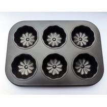 Placa Bandeja Molde Teflonado Para 6 Cupcakes Budin Nordico