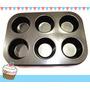 Moldes Para Muffins/cup Cakes Redondox6 Teflon