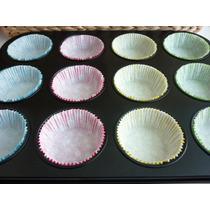 Molde Bandeja Placa Teflonada Para 12 Cupcakes +50 Pirotines