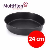 Molde Torta Teflón - Tortera Alta Multiflon - 24 Cm