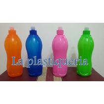 Botellas De Plástico Con Pico Sport O Tapa Estilo Tupperware