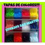 Tapas Plasticas De Colores 28mm X100 Unidades