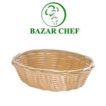 Panera Oval Mediana De Mimbre - Bazar Chef