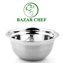 Bowl Profundo Acero Inoxidable Con Silicona 20 Cm Bazar Chef