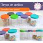 Frascos Tarros Plástico Golosinas Caramelera Candy Bar