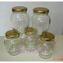 Frascos-envases Vidrio Almendra 360 Cc X 30 Unidades