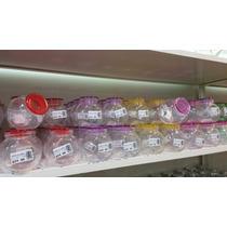 Frasco Especiero Vidrio Tapa Color Plastica Moderno Bazar
