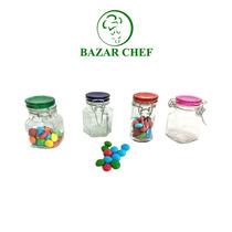 Frasco De Vidrio Chico Hermetico 8 X 5 Cm - Bazar Chef