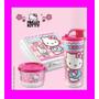 Set Tupperware Hello Kitty Sandwichera + Vaso Hermetico